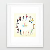 glee Framed Art Prints featuring Glee by Tunasammiches