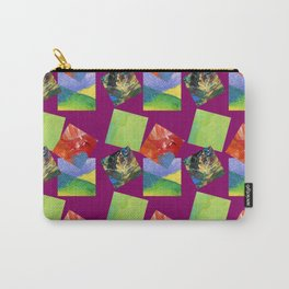 Painted Squares Jiggle - Plum Carry-All Pouch