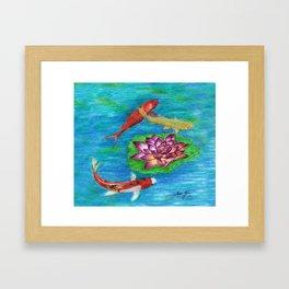 Orange Koi Framed Art Print