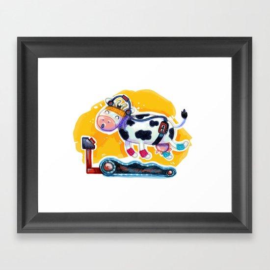 Fat Free Milk Framed Art Print