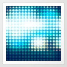 Blue Lights by Friztin Art Print