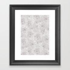 Flowers in lines Framed Art Print