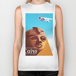Cairo flight vintage travel poster Biker Tank