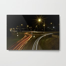 The Road at Night Metal Print