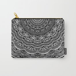 Zen Black and white mandala Sophisticated ornament Carry-All Pouch