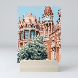 Barcelona Tower Detail Architecture Print, Santa Creu Hospital, Sant Pau Landmark Art Print, Urban Modernist Architecture Mini Art Print