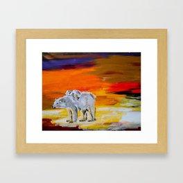 Polar Bears Surviving Framed Art Print