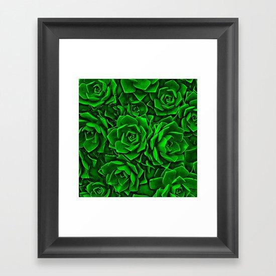 Succulent Green Framed Art Print