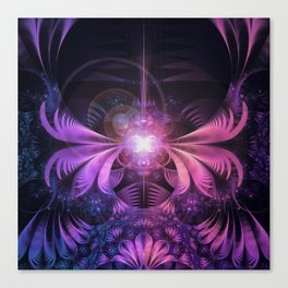 A Glowmoth of Resplendent Violet Feathered Wings Canvas Print