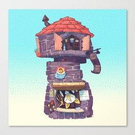 Stationery Mage Tower - Honduran White Bat Canvas Print