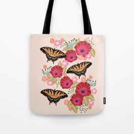 Swallowtail Florals by Andrea Lauren  Tote Bag