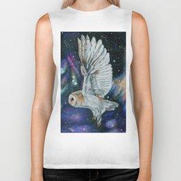 Cosmic Owl Biker Tank