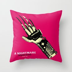 A NIGHTMARE POWER GLOVE Throw Pillow