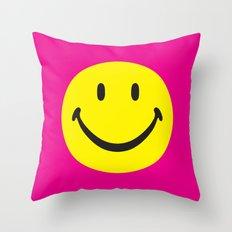 smiley02 Throw Pillow