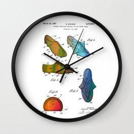 Patent drawing of shoes - Circa 1965 Wall Clock
