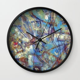 Dragonflies in blue Wall Clock