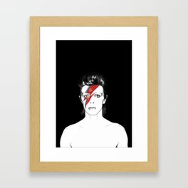 D. Bowie Tribute Framed Art Print