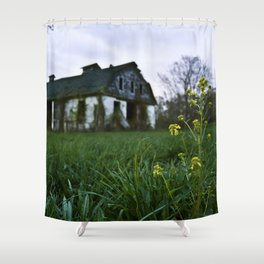 Dilapidated Farm and Mustard Seed Shower Curtain