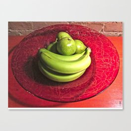 """Green Fruit"" Canvas Print"