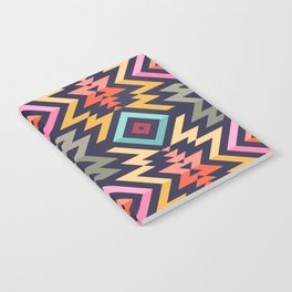 Seamless Vector Pattern in Tribal Style. Mix of stripes and triangles Notebook
