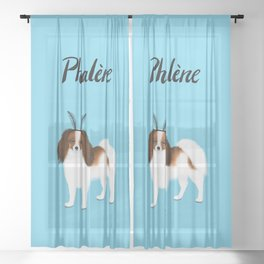 Phalène (Blue) Sheer Curtain