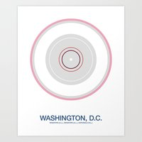 Washington, D.C. rings Art Print