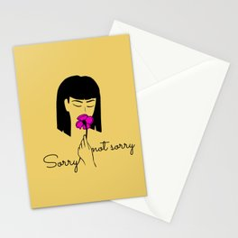 Sorry, not sorry Stationery Cards