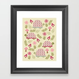 Cheerful Turtles Framed Art Print