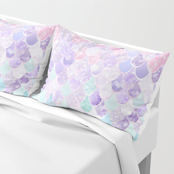 Mermaid Pastel Iridescent Pillow Sham