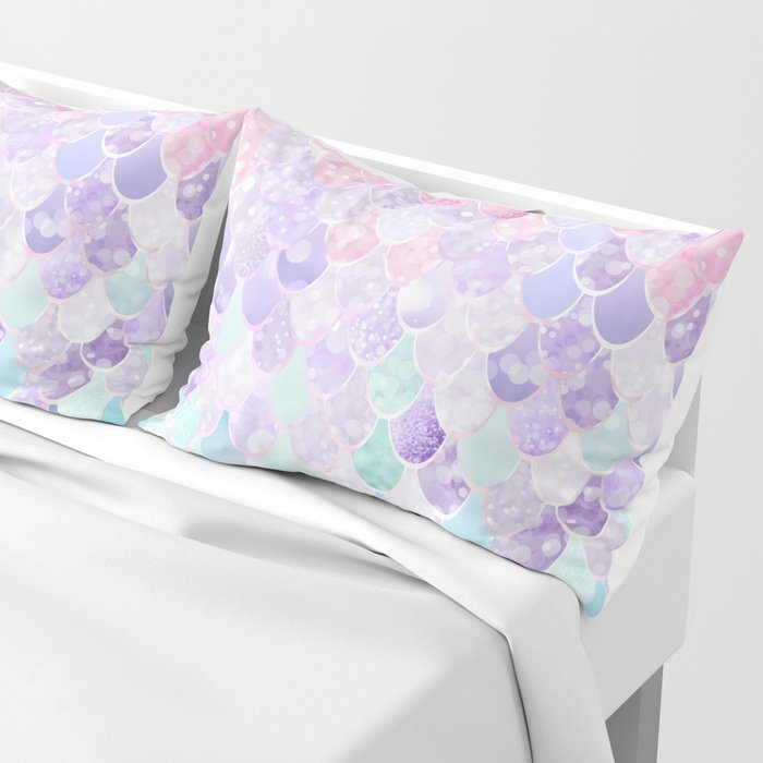 Mermaid Pastel Iridescent Pillow Sham
