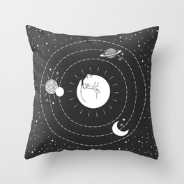 The Space Cat Throw Pillow