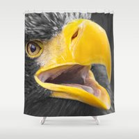 eagle Shower Curtains featuring Eagle by Veronika