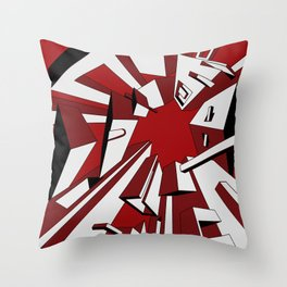 Radial Boxes Throw Pillow