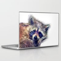 raccoon Laptop & iPad Skins featuring Raccoon  by jbjart
