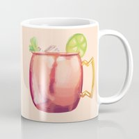 moscow Mugs featuring Moscow Mule by Nan Lawson