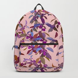 Beautyberry on Pink Backpack