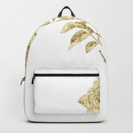 Gold Glitter Flower Backpack