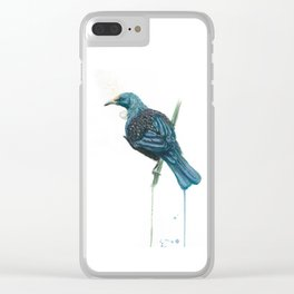 The Parson Bird aka Tui Clear iPhone Case