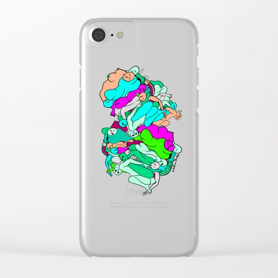 Sleepy Heads - Emerald Green Clear iPhone Case