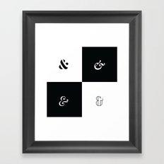 For the Love of Ampersand #1 Framed Art Print