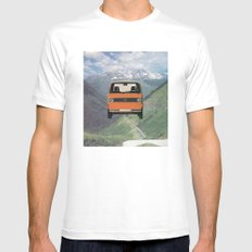 Car Ma Ged Don White Mens Fitted Tee MEDIUM