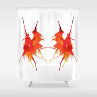 courage Shower Curtains featuring Courage by What do YOU see?