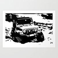 jeep Art Prints featuring Jeep by Bwoodstockfoto