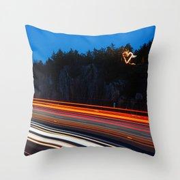 Valery Heart Throw Pillow