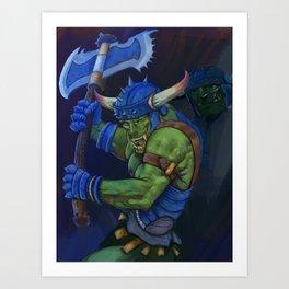battle orc Art Print