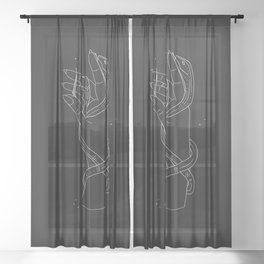 The Key - Illustration Sheer Curtain