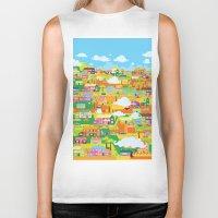 the neighbourhood Biker Tanks featuring Neighbourhood by James Thornton