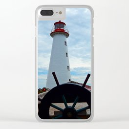Sailing to Point Prim Lighthouse Clear iPhone Case