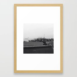 #287 #Harbour #Landsape Framed Art Print