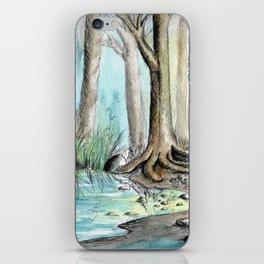Woods Pen & Ink Watercolor iPhone Skin